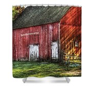 Farm - Barn - The Old Red Barn Shower Curtain