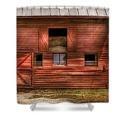 Farm - Barn - Visiting The Farm Shower Curtain by Mike Savad
