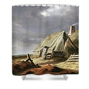 Farm Buildings In A Landscape, C.1625-28 Shower Curtain