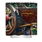 Farm Equipment - New Holland Feed And Cob Mill Shower Curtain by Paul Ward