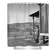 Farm Erosion, 1937 Shower Curtain