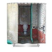 Farm Facilities Shower Curtain by HEVi FineArt