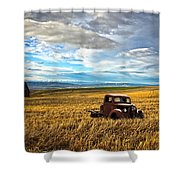 Farm Field Pickup Shower Curtain
