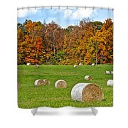 Farm Fresh Hay Shower Curtain