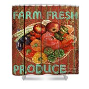Farm Fresh Produce Shower Curtain