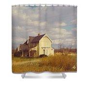 Farm House And Landscape Shower Curtain