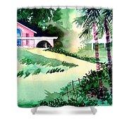 Farm House New Shower Curtain by Anil Nene