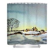 Farm In N.e Yorkshire Shower Curtain