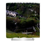Farm Land In The Peak District In Great Britain Shower Curtain