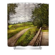 Farm - Landscape - Jersey Crops Shower Curtain