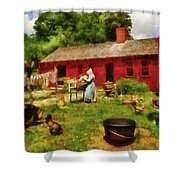 Farm - Laundry - Old School Laundry Shower Curtain by Mike Savad