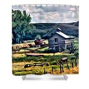 Farm Look Shower Curtain