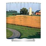 Farm Nr Mountville Lancaster Co Pa Usa Shower Curtain