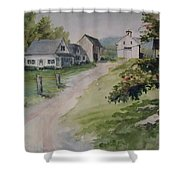 Farm On Orchard Hill Shower Curtain