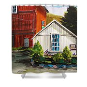 Farm Store Shower Curtain by John Williams