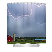 Farm Storm Hdr Shower Curtain