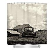 Farm Truck - 1941 Chevy In Sepia Shower Curtain