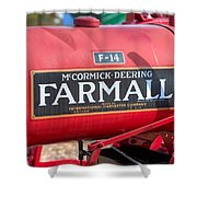 Farmall F-14 Tractor I Shower Curtain by Clarence Holmes