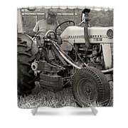 Farmer And His Tractor Shower Curtain