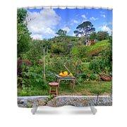 Farmer Maggot Garden Shower Curtain