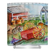 Farmers Backyard Shower Curtain