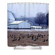Farmer's Christmas Shower Curtain