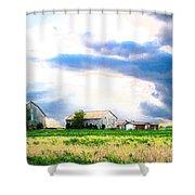 Farmer's Field At Sundown Shower Curtain