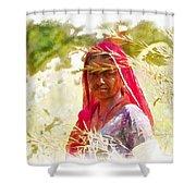 Farmers Fields Harvest India Rajasthan 8 Shower Curtain