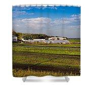 Farmer's Market And Green Fields Shower Curtain
