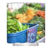 Farmer's Market Basil Shower Curtain