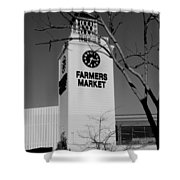 Farmers Market Bw Shower Curtain