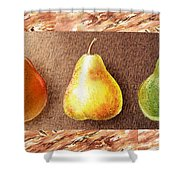 Farmers Market Drive Through Red Yellow And Green Pear Shower Curtain