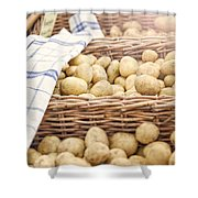 Farmers Potatoes Shower Curtain