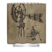 Farmer's Windmill Shower Curtain