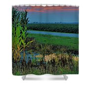 Farm Sunset Shower Curtain