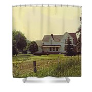 Farmhouse And Landscape Shower Curtain