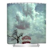 Farmhouse And Tree Shower Curtain