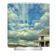 Farmhouse By Cornfield Shower Curtain