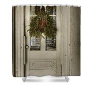 Farmhouse Christmas Shower Curtain