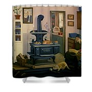 Farmhouse In Autumn 1990 Shower Curtain