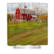 Red Barn Art- Farmhouse Inn At Robinson Farm Shower Curtain