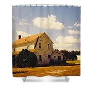 Farmhouse Landscape Shower Curtain