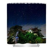 Farmhouse Star Trails.  Shower Curtain