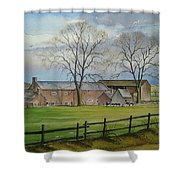 Farming In The Staffordshire Countryside Shower Curtain