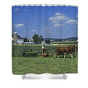Farming The Old Order Way Shower Curtain
