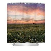 Farmland Sunset 1 Shower Curtain