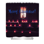 Farolitos Or Luminaria Below Window 1-2 Shower Curtain