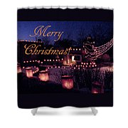 Farolitos Or Luminaria On Wall 2-2 Shower Curtain