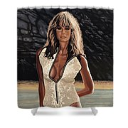 Farrah Fawcett Painting Shower Curtain
