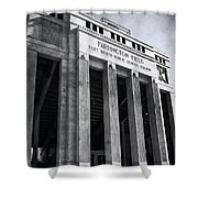 Farrington Field Facade Bw Shower Curtain